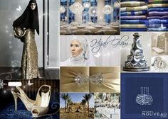 Another blue and gold combo. Gotta love a hijabi in sequins