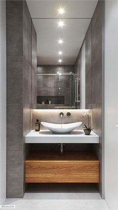 New bathroom vanity decor ideas guest Ideas Modern Bathrooms Interior, Bathroom Design Luxury, Modern Bathroom Decor, Modern Bathroom Design, Small Bathroom, Bathroom Pink, Bathroom Vanity Decor, Bathroom Layout, Bathroom Ideas