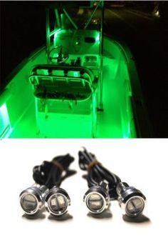 4x Blue LED Boat Light Waterproof 12v Deck Storage Kayak