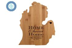 Michigan Personalized Cutting Board  Home Sweet by AestheticWood