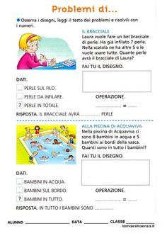 Math For Kids, Problem Solving, School, Sandro, Google, Geography, Early Education, Math Word Problems, Italian Language