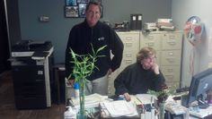 Marc and Gayle are hard at work