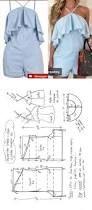 Resultado de imagen para moldes de blusas cruzada na frente com manga de babado