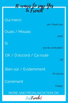 Yes In French 10 Ways To Say Oui In French Learn French