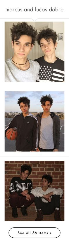 """marcus and lucas dobre"" by mistythepokemontrainer ❤ liked on Polyvore"