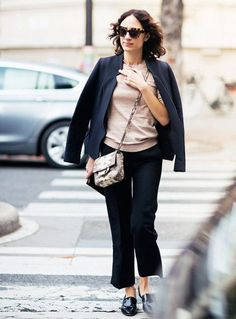 Mix and match neutral pieces.... - Street Style