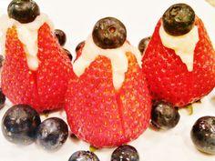 Stuffed Strawberries - great fourth of july dessert recipe!