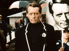 Patrick McGoohan, THE PRISONER. If you've never seen it, shame on you. Also, GO WATCH IT!
