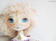 "Textile cloth doll ""Viola"" fairy. $90.00, via Etsy."