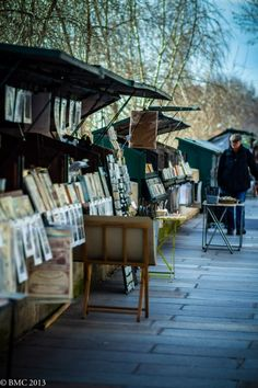 **Bords de Seine, Paris - I still have a painting/print of the Eiffel Tower that I bought in one of these stalls over half a century ago.