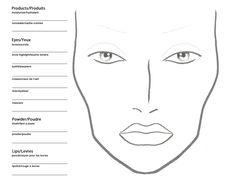 Becoming a Makeup Artist: Free Blank MAC Makeup Chart