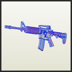 M4 Carbine Free Paper Model Download - http://www.papercraftsquare.com/m4-carbine-free-paper-model-download.html