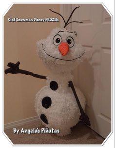 Olaf Snowman Disney Frozen Custom made a Piñata  by angelaspinatas Www.facebook.com/angelaspinatas
