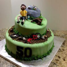 Cyclist 50th birthday cake