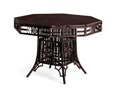 Best Outdoor Dining Tables: Indochine Cane Octagonal Dining Table by Red Egg