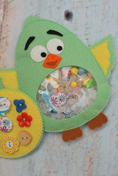 Искалочка Мятный Птах развивающая игрушка - подарок малышу - купить или заказать в интернет-магазине на Ярмарке Мастеров | Развивающая игрушка-искалочка из фетра Птичка,…
