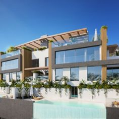 High energy efficient smart semi-detached villa with panoramic views in Benahavís Off-plan development of only 6 luxury semi-detached villas with panoramic views next to La Heredia, in Benahavís. Surrounded by private landscaped .