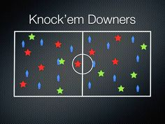 Physical Education Games - Knock'em Downers