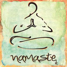 Yoga Art and Meditation Art. Whether creating a yoga or meditation space at home or decorating a yoga studio we think this selection will bring the right amount of Zen to the ambiance Namaste Symbol, Namaste Sign, Namaste Tattoo, Namaste Art, Frases Namaste, Meditation Art, Yoga Art, Meditation Tattoo, Yoga Tattoos
