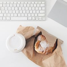 Made From Scratch Instagram | coffee + almond croissants