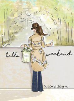 Wandkunst für Frauen  Hallo Wochenende  Frühling in der