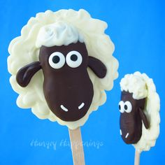 Nutter Butter Lamb Pops How-To