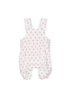 Baby Girls + Accessories Printed Cord Dungaree French Vanilla dungaree