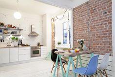 Charming and stylish modern-industrial Swedish flat