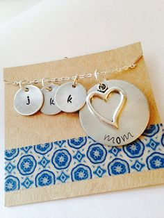 Hand Stamped Personalized Aluminum Mom Necklace by UniquelyImprint