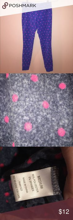Cute Polka Dot Pajama Pants TWO PIECE Warm & super soft fabric! Pants Leggings
