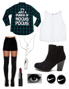 """""""✨hocus pocus✨"""" by ellz2605 ❤ liked on Polyvore featuring Alice + Olivia, Native Rose, NIKE and NARS Cosmetics"""