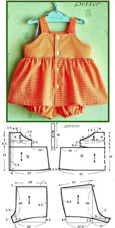 Summer dress and pants Baby Dress Patterns Dress pants Summer Baby Dress Patterns, Baby Clothes Patterns, Sewing Patterns, Sewing Baby Clothes, Doll Clothes, Dress Sewing, Baby Dress Design, Baby Frocks Designs, Baby Sewing Projects