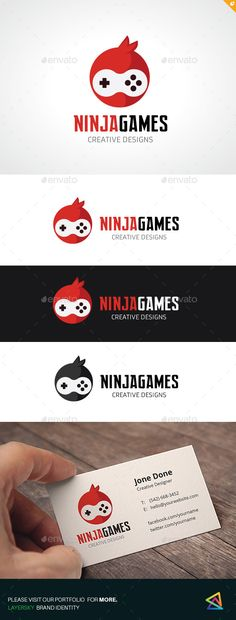 Ninja Games	 Logo Design Template Vector #logotype Download it here: http://graphicriver.net/item/ninja-games/12931941?s_rank=1074?ref=nesto