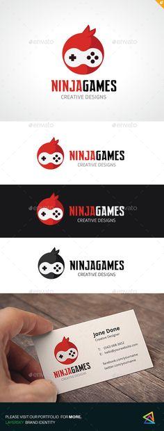 Ninja Games Logo Template Vector EPS, AI. Download here: http://graphicriver.net/item/ninja-games/12931941?ref=ksioks
