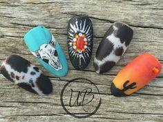 Rodeo Nails, Cowboy Nails, Cute Acrylic Nails, Acrylic Nail Designs, Western Nails, Indian Nails, Aztec Nails, Chevron Nails, Country Nails