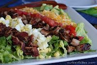 BBQ Chicken Cobb Salad - using up the Easter eggs!