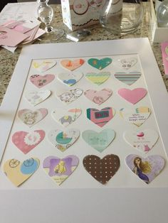 Transform baby shower cards into a picture for the nursery or wedding cards for the master bedroom.