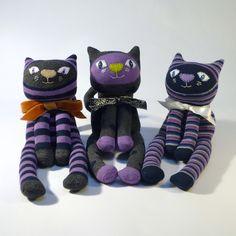sock cat trio
