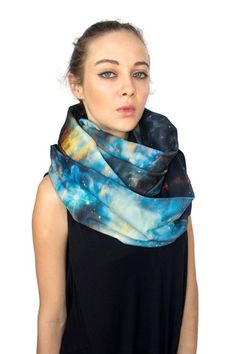 Cool geek accessories: Musca galaxy circle scarf by Shadowplaynyc on CoolMomTech.com