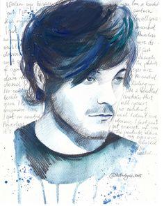 "Louis Tomlinson and ""No Control"" lyrics Art Print"