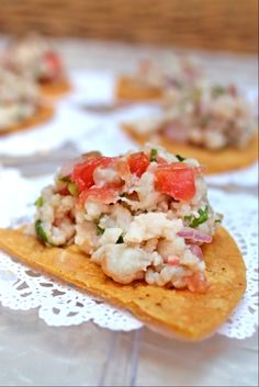 Without a doubt, one of our favorite appetizers on our private catering menu is our refreshing ceviche.  We marinate fresh-caught red snapper in our special blend of fruit juices, herbs and spices.  And, then we serve it up on one of our crisp, house-made tortilla chips.  It's light, satisfying and absolutely delicious!  #tacocatering #tacocartcatering #ceviche #appetizers #yum #nom #delicious #oc #orangecounty #LA #losangeles