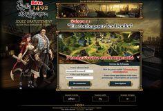 Page d'accueil - Ecran de connexion (BSQ1492 Bêta)