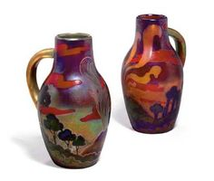 VASES, was sold by Christie's, New York, on Wednesday, December Vases, Glazed Ceramic, Ceramic Artists, Pottery Art, Art Decor, Home Decor, Iridescent, Ceramics, Antiques