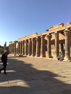 A view of the courtyard infront of the main temple entrance at the Temple of Philae [shared]