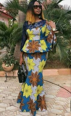 Ankara Long Gown Styles, Long African Dresses, Latest African Fashion Dresses, African Print Dresses, Ankara Rock, African Print Dress Designs, Ankara Skirt And Blouse, Peplum Blouse, African Traditional Dresses