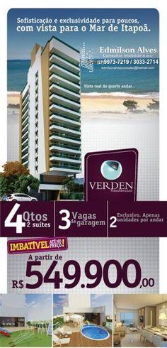 Ed. Verden  Maiores informações e outras opções acesse: www.edmilsonalvesimoveis;.com.br (27) 3033-2714   9973-7219