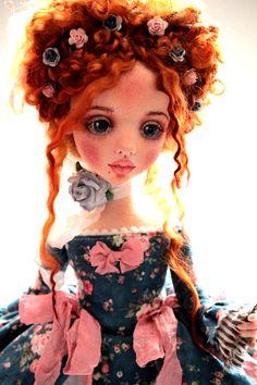 Купить или заказать Адель в интернет-магазине на Ярмарке Мастеров. Авторская текстильная кукла.Полностью подвижна.Одежда…