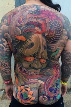 Chest And Back Tattoo, Back Piece Tattoo, Back Tattoos, Leg Tattoos, Body Art Tattoos, Tattoos For Guys, Traditional Japanese Tattoos, Japanese Tattoo Art, Japanese Style