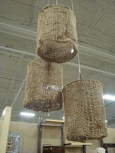 Simply Vintage: A Hump Day How-To: DIY Burlap Lamp Shade and Our G...