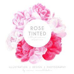 Rose Tinted Illustration: ROSE TINTED LOGO DESIGN (NEW)
